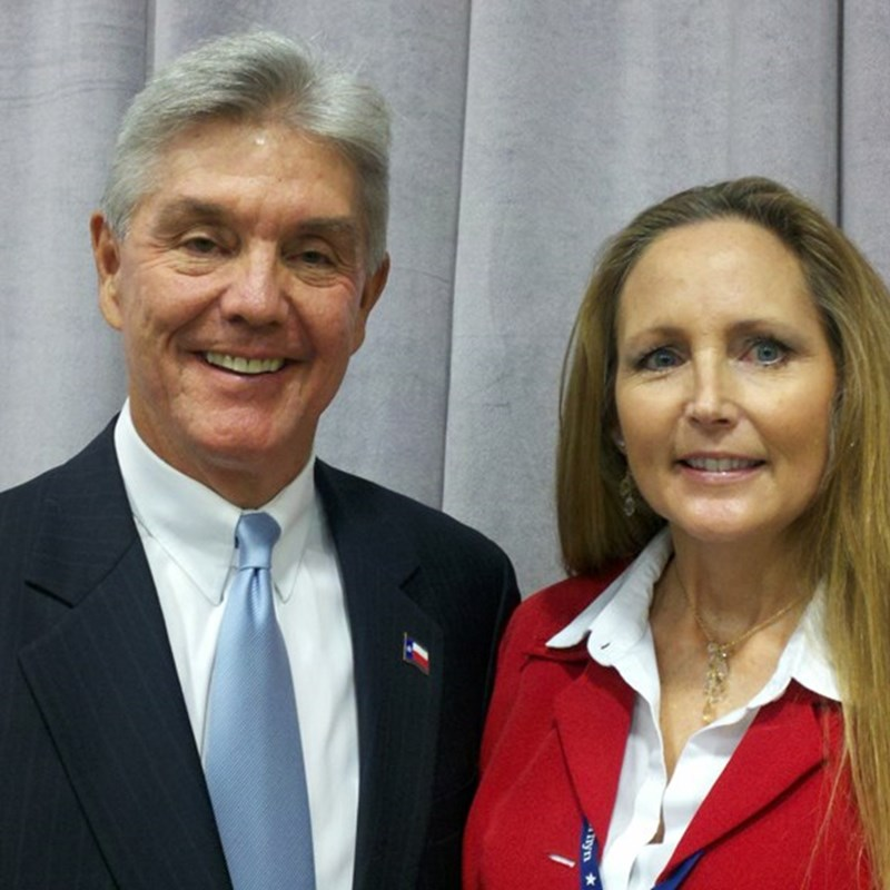 former TX Secretary of State, now US Representative Roger Williams at the Republican State convention