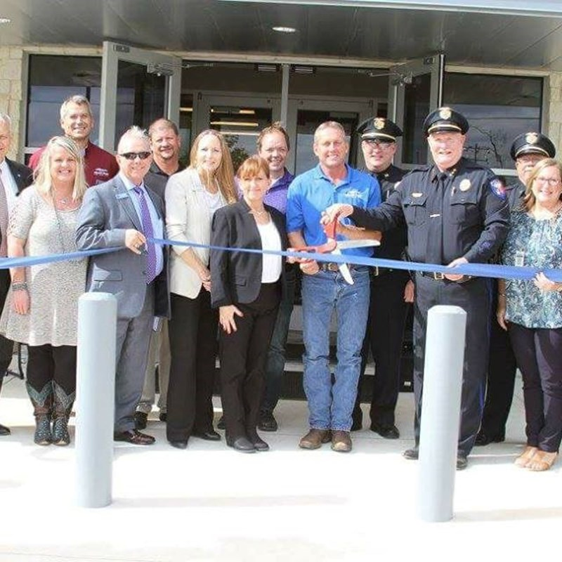 Marble Falls Public Safety Bldg ribbon cutting 11-14-17 (for Police Dept & Municipal Court)