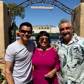 Javier Gomez (California State Assembley - Luis Alejo) and Alan Hicks (South County Indivisible)