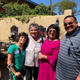 Jenny with Abel Mejia (PVUSD), Dena Taylor (Retired Cabrillo College), and Becky Taylor (Author)
