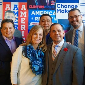 David Rodriguez, Rodney Bustamante and Adam Alvarez (Campaign Treasurer) joined us when we officially filed!