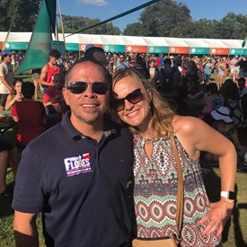 Taking a break with Megan Flores to enjoy ACL!