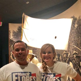 Supporting the Arts and Culture are a necessity for the Floreses.  After a little service at a UT Game, Mario and Megan are exploring the Bullock Museum as utilizing their membership!