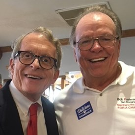 Mike DeWine and I at his campaign stop in Bowling Green, we are fortunate to have several top notch Republican candidates running for Governor next year.