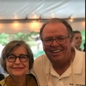 at Wood County Hospital Guild fundraising event with Penny McMorris from my days at WBGU working with Penny on her quilting show