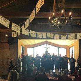 My home club, North West Forest Republican Women, had a festive Christmas luncheon with beautiful caroling and piano accompaniment.