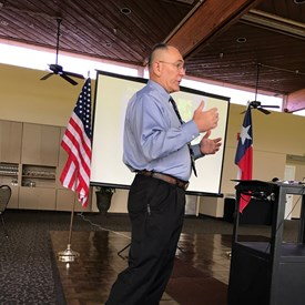 At the Kingwood Republican Women's club luncheon, I was honored to meet Rickey Morlen and hear him speak about the V.A. Hospital and the wonderful services it provides.