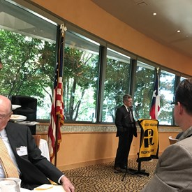 At the weekly lunch meeting with Greater Houston Pachyderm club, I heard Ed Emmett speak for a second time, and his words about Republicans supporting one another instead of eating our own hit home for me, a newbie to politics.