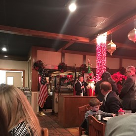 I was very happy to attend an evening Christmas dinner party with the San Jacinto Republican Women, a group I have not been able to visit because of the distance from my home in Cypress. This party was a lot of fun with Ed Emmett stopping by to encourage attendees to get the word out to vote in the March primary and support Republican candidates!