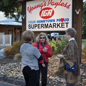 Lynn helped with saving the IGA prior to her run for D3 supervisor in 2014