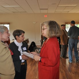 Lynn announces her campaign at a Thank You/Kick-off event on December 2.
