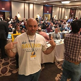 At Libertarian State Convention in Houston.
