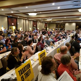With over 300 other Libertarians at the Texas state convention in Houston.