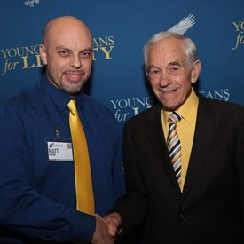 With the Famous Ron Paul at the YAL summit in Houston.