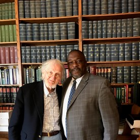 Sam Mosteller with Bobby Lee Cook. Mr. Cook is an attorney in southeast Georgia, and has been Sam's mentor since Sam was 17. Bobby Lee Cook is 91 and still practicing law.