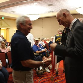 Meeting Gov Scott and being awarded Governor's Veterans Service Award.