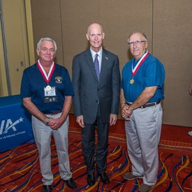 My Dad and I receiving the Governor's Veterans Service Award from Gov Scott