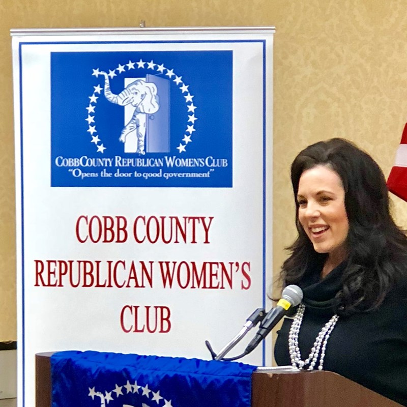 So grateful for the tireless work done by the Cobb Republican Women's Club to further the conservative cause.