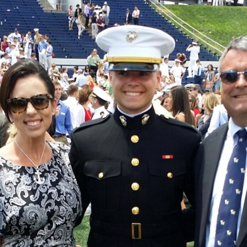 My stepson Quentin on graduation day from the US Naval Academy