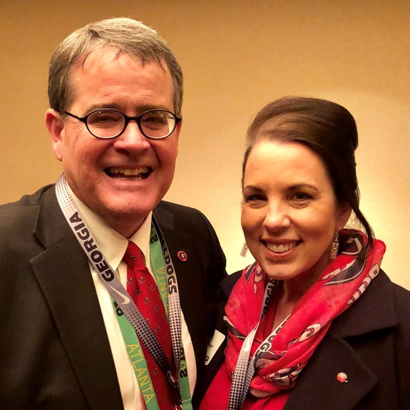 National Championship Game Day with UGA President, Jere Morehead.  What a privilege it is to know him.  The University of Georgia could not ask for a finer or more talented leader.