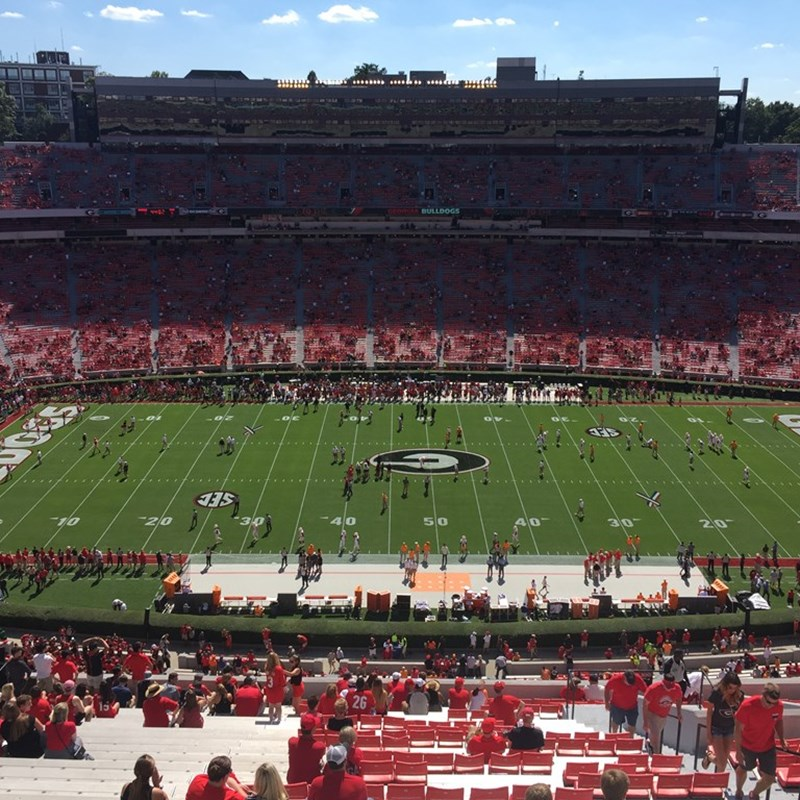 Go Dawgs!  Beautiful day in Athens