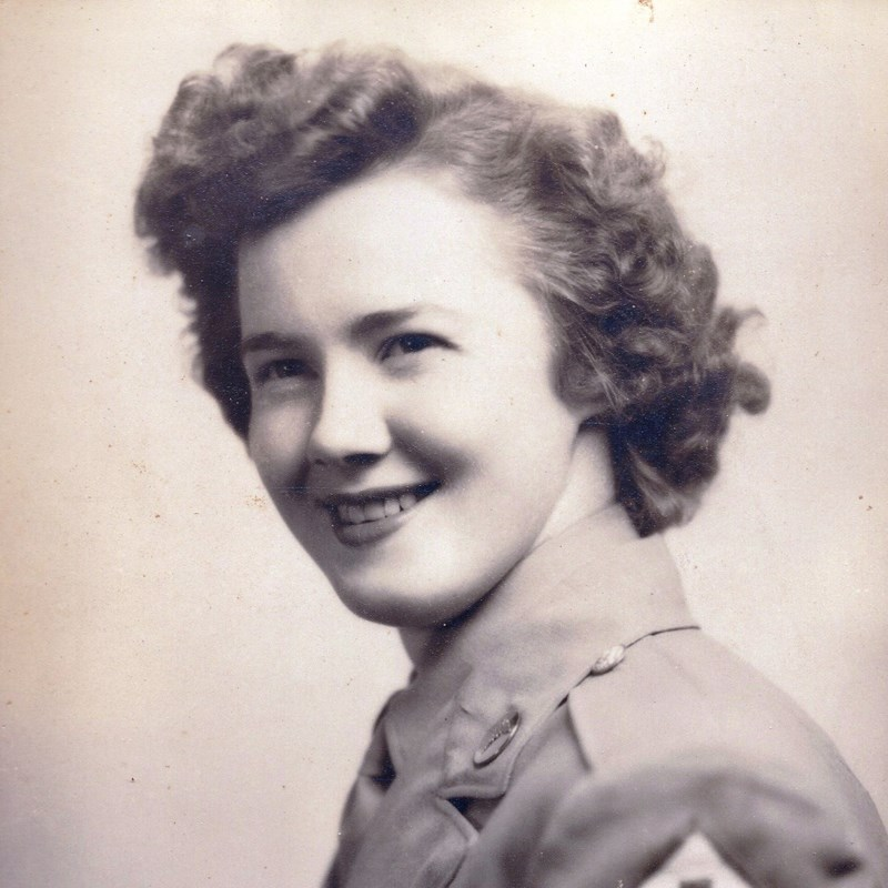 David's mom WAC Veteran Doris (Callahan) Briggs.