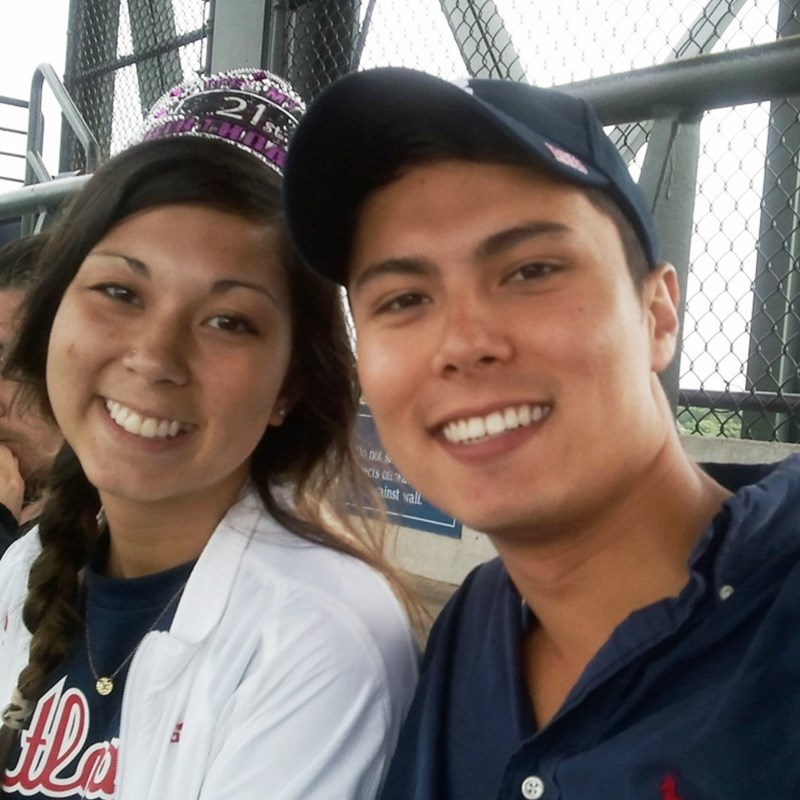 My son and daughter at a Braves game at the old Ted.