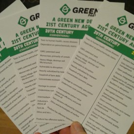 I was part of a team that helped produce new Green Party literature promoting A Green New Deal for 21st Century Agriculture. If you eat, you should care about sustainable, id est life-sustaining, agriculture.