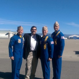 Super Bowl 2017 with the Blue Angels pilots