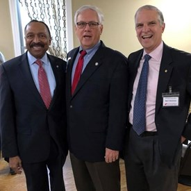 Lt. Governor EW Jackson and Senator Mark Obenshain joined Dr. Wright at the Lincoln - Reagan Dinner in Mt. Jackson on April 21, 2018