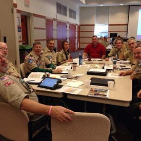 Getting Things Done!  Dr. Wright at a Stonewall Jackson Chapter Meeting of  Boyscout Leaders.