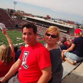 David & Penny at an University of Arizona game