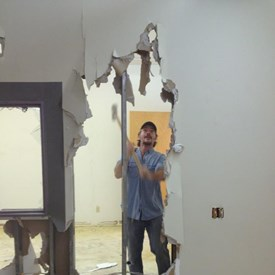 Renovating the lobby at North Carolina Stage Company