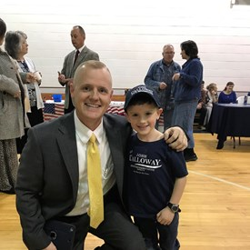 My nephew Landon Campaigning with me.