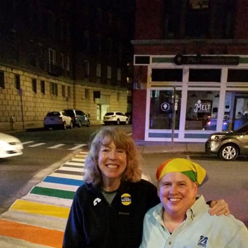 Painting the crosswalks for Pride!  6/15