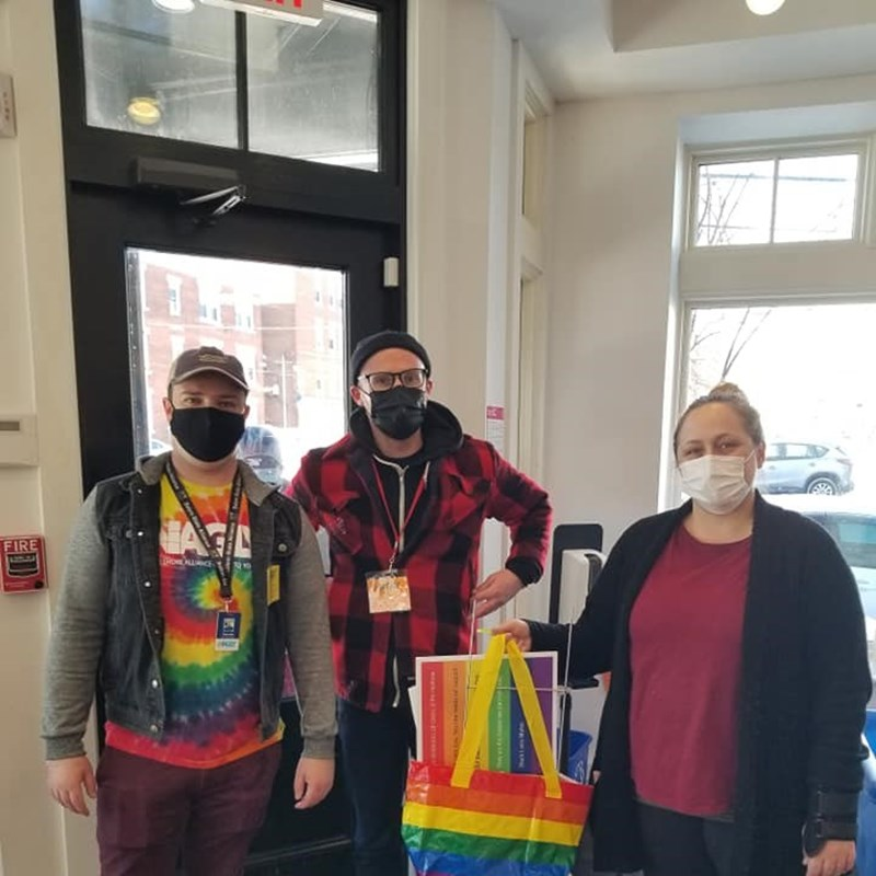 NAGLY visits and donates to the Salem Pantry!