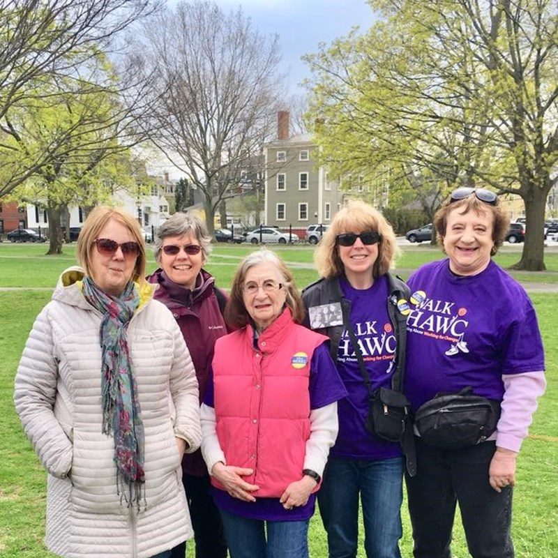 Participating in the Walk for HAWC, Healing, Abuse, Working for Change; fighting to end domestic violence. 4/28/19