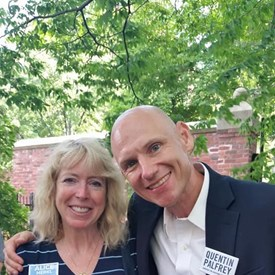 With Quentin Palfrey, Democrat for Lieutenant Governor, at the Lynn Democratic City Committee Annual Cookout 7/15