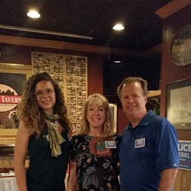 """Barry, Brenda and I at my """"meet and greet"""" at the Village Tavern on 7/10"""
