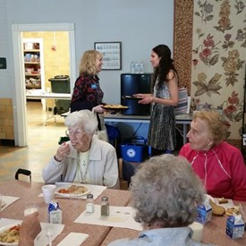 Visit to the Ipswich Senior Center with Allison Gustavson, candidate for State Representative for 4th Essex on 5/10.