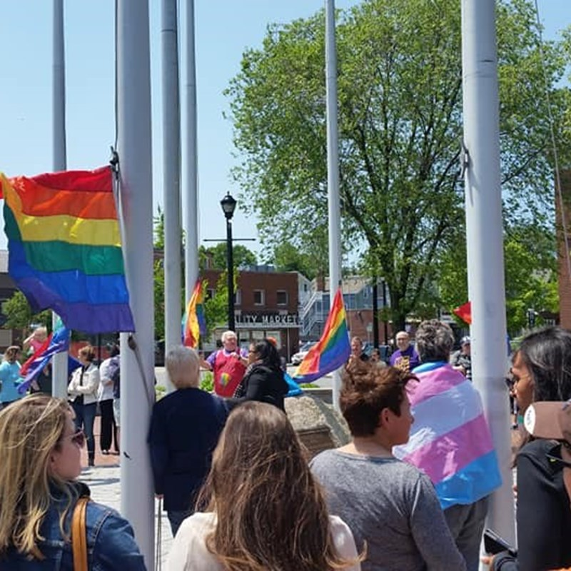 Pride Flag Raising in Salem 6/3/19