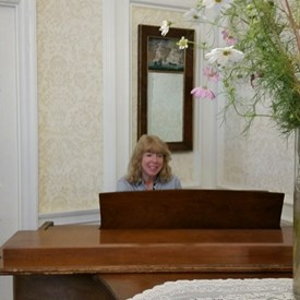 Playing piano for residents of Brookhouse Home.