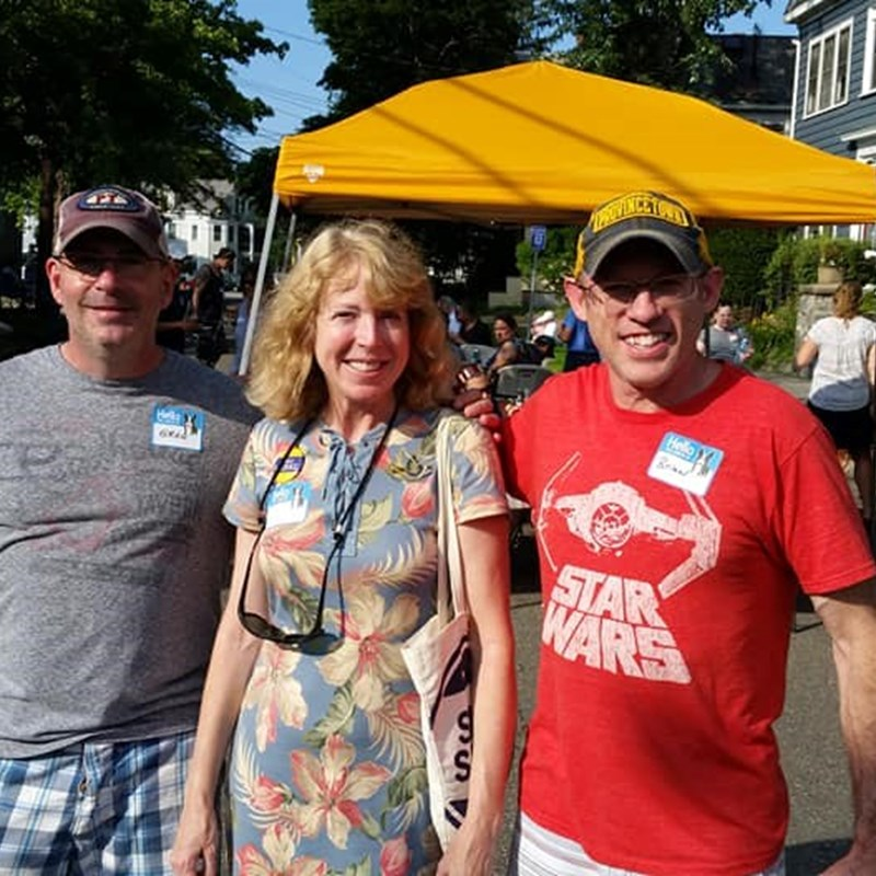 Happy to take a break at the Broad Street Block Party and chat with the neighbors there.
