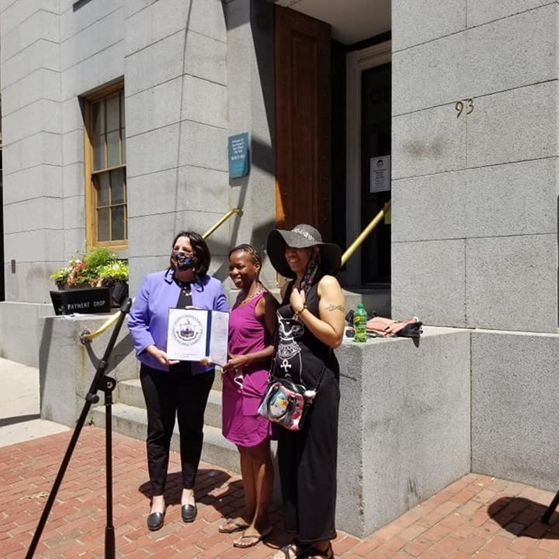 Juneteenth flag raising at Salem City Hall