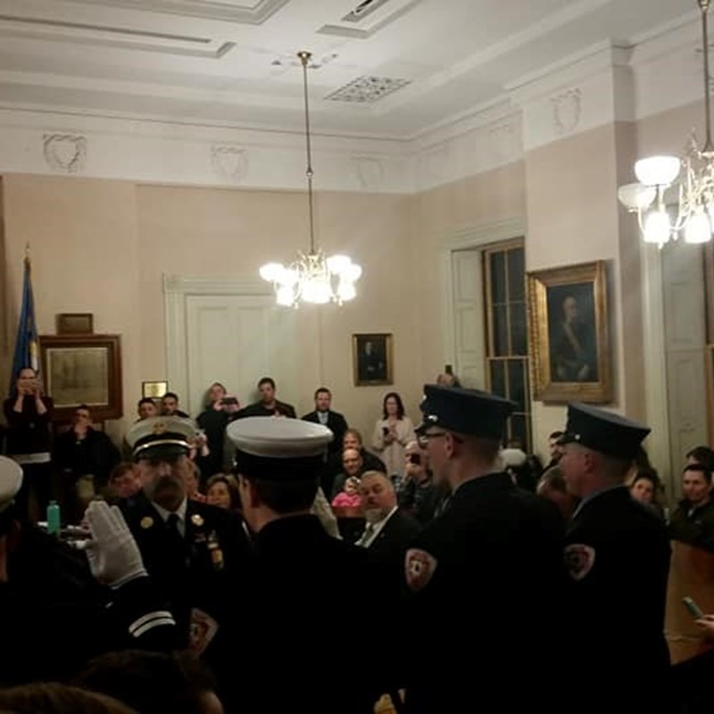 Tribute and swearing in of our local heroes and firefighters at Salem City Hall! 2/28/19