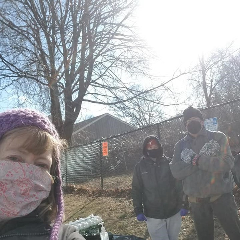Clean up in the Point, organized by Ethan, a teenage resident of the neighborhood!