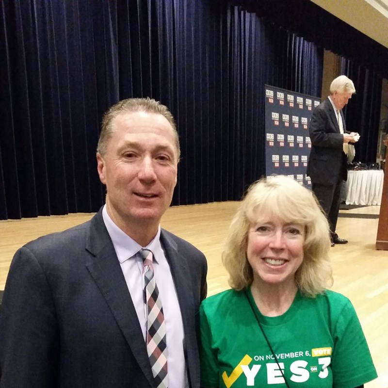 "Thank you Rep. Paul Tucker for your work on the ""Yes on 3"" campaign!"