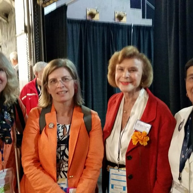 Democratic State Convention with Alice Wolf (Rep 1996-2013), Sen. Harriette Chandler, Rep. Marjorie Decker