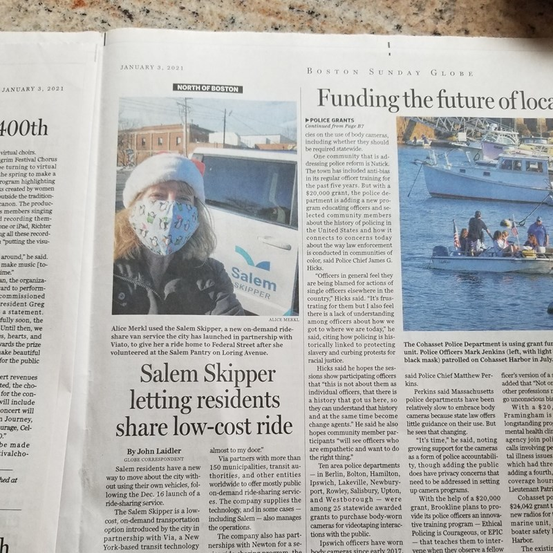 Article about my ride on the Salem Skipper in the Boston Globe!