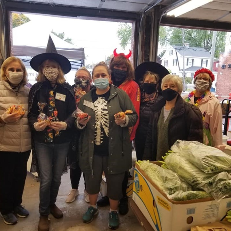 Halloween at the Pantry!  Thank you to Root and A&J King for your delicious meals and bread!